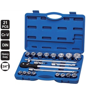 "21 Number pieces of professional application tool and sockets set 3/4"" hand tools"