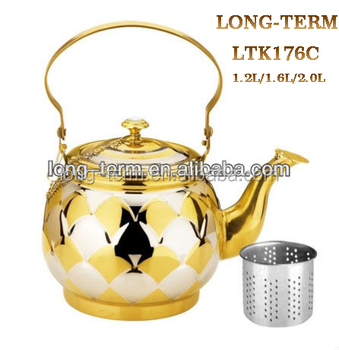 Ltk176c Stainless Steel Decorative Tea Kettles With Strainer Buy