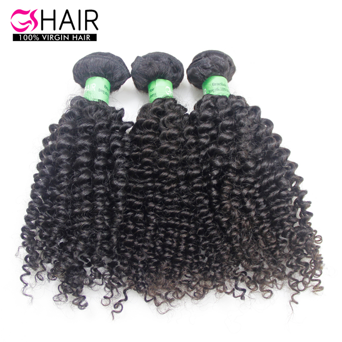 Fashion style 10-30inch long lasting virgin brazilian kinky curly weave hair