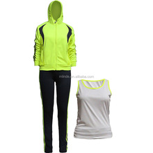 Sports Apparel Companies Hot Womens 3 Pieces Set Matching Jacket, Tank And Pants Suits Activewear Sports Fitness Tracksuit Set