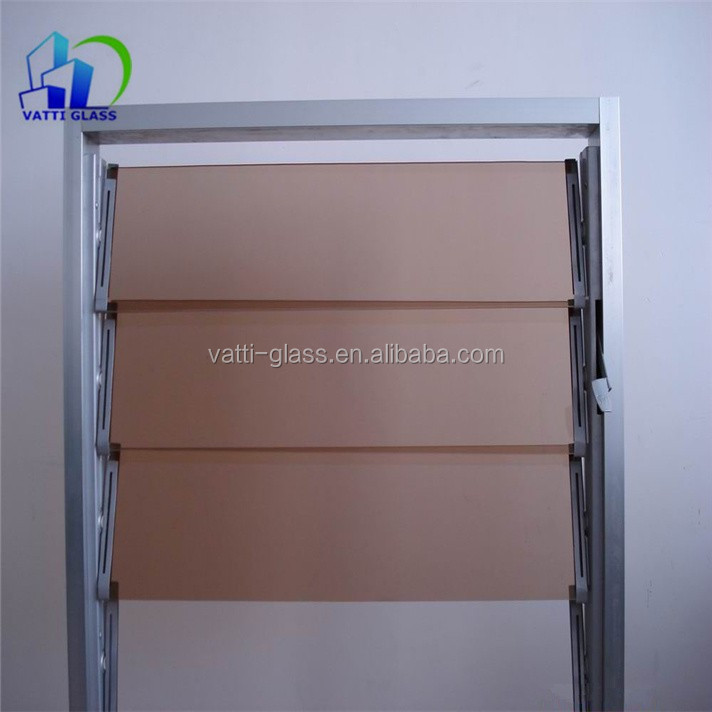 Tempered clear and frosted louver glass and shutter glass