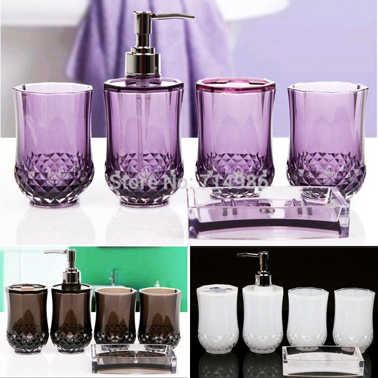 Elegant Bathroom Sets: Cheap Elegant Cylindrical Crystal Bathroom Set Household