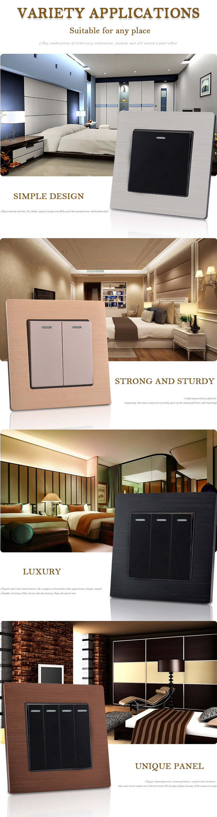 European power 10a recessed doorbell light switch
