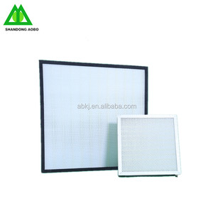 H13 Mini- Pleats HVAC Panel HEPA Air Filter for Pharmaceutical Industry