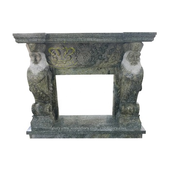 Popular Design marble statue fireplace surround Mantel