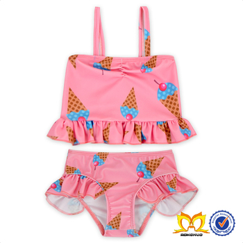 Cute Baby Mermaid Ruffle Tankini Bathing Suits Girl Bikini Swimwear