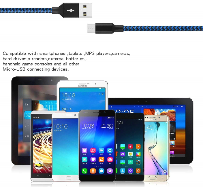 Big Sale! Nylon Braided Android Charger USB to Micro USB Charging Charger Cord for Samsung Galaxy S7 Edge/S7/S6/S4/S3 for Huawei