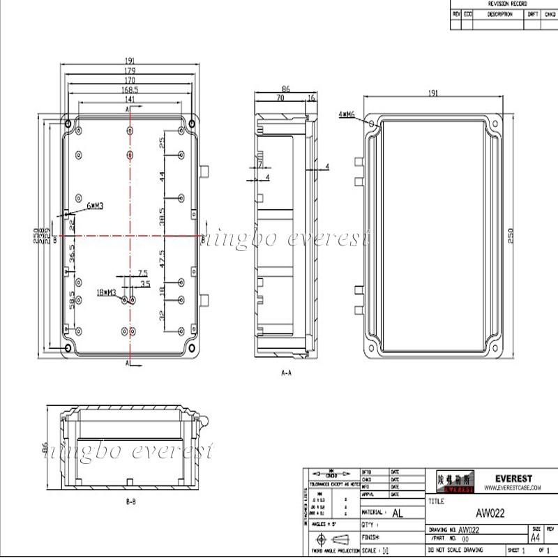 ip67 outdoor wall mount electronic aluminium waterproof