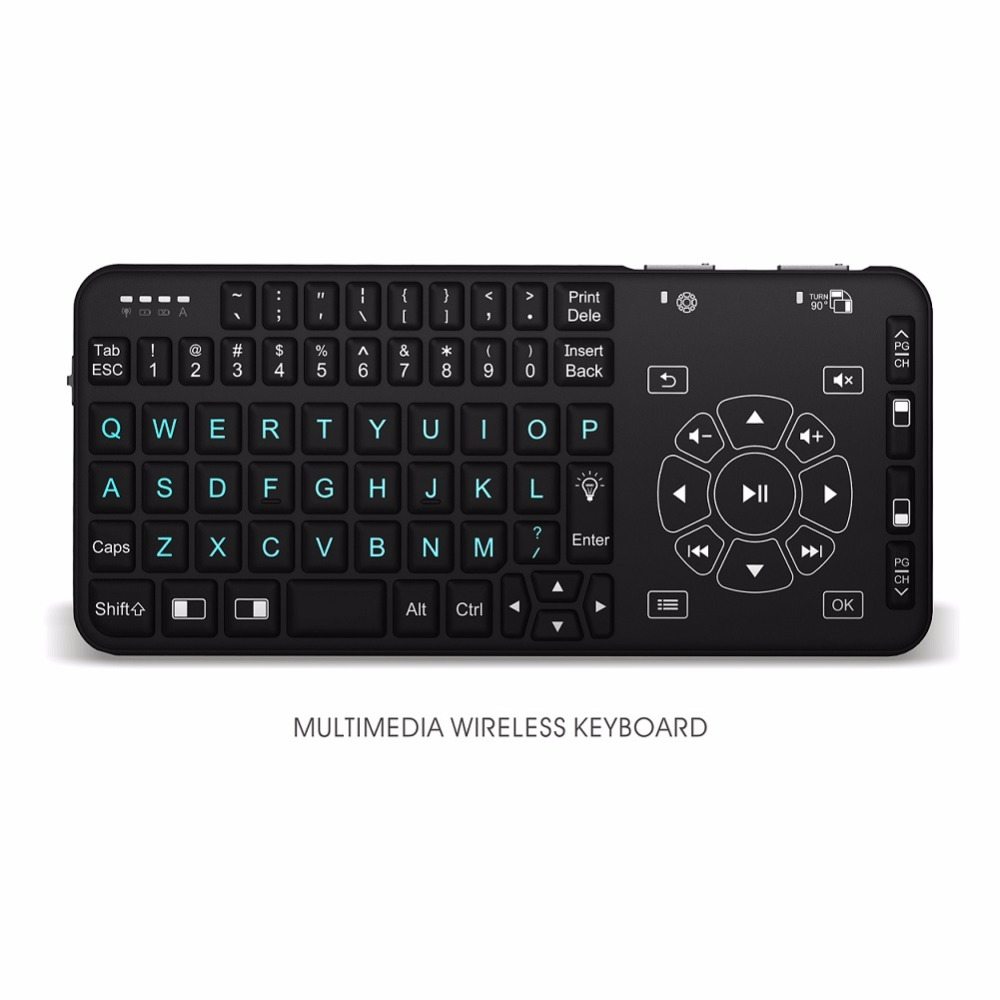 Akıllı mini klavye 2.4G Kablosuz Mini Fly Air Klavye Mouse Touchpad laptop için Uzaktan Smart TV/PC