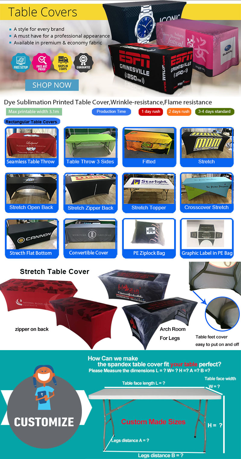Factory wholesale table cover stretch spandex