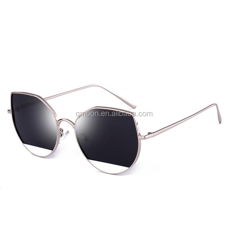 6cedaf4784db8 Preço a granel por atacado comprar barato dupla ponte de metal mulheres  óculos de sol de