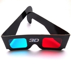 WR blue red 3d glasses fashional plastic 3d glasses for movie