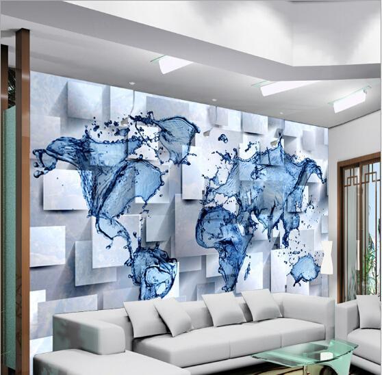 2015 1 sq m personnalis 3d non tiss pvc photo ikea papier peint ondulation carte du monde. Black Bedroom Furniture Sets. Home Design Ideas