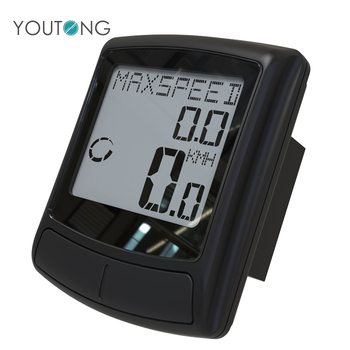 Best Rated YT6673 Wireless Digital Bike Trip Computers , Bicycle Distance Counter