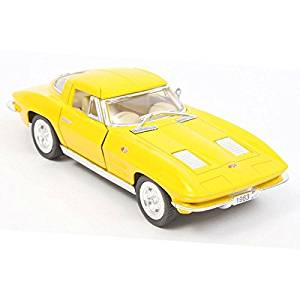 1963 Chevy Corvette Stingray 1:36 Scale (Yellow)