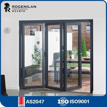 Rogenilan 75 Lightweight Modern Design Sliding Soundproof Veranda Interior Glass Bifold Doors