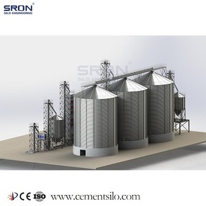Hot Galvanized Steel 2000 Ton Grain Storage Silo Price,1000T,1500T,3000T,5000T,10000T,15000T Wheat/Corn Silo Cost Down