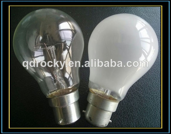 Frosted Light Bulbs >> Traditional Incandescent Light Bulbs Clear Frosted E27 B22 100w View 220v 60mm Frosted Standard Lamps E26 B22 Rocky Product Details From Qingdao