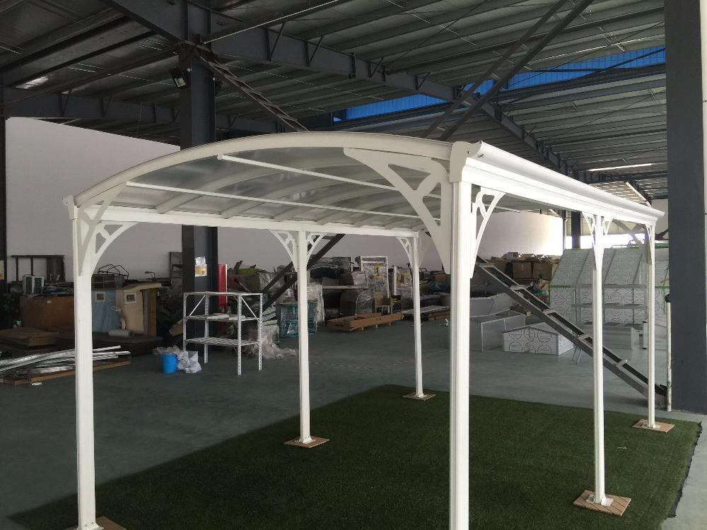 mit bogendach und feste polycarbonat starke aluminium rahmen carport garage dach. Black Bedroom Furniture Sets. Home Design Ideas