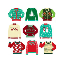 OEM Cheap acrylic funny children ugly sweater christmas