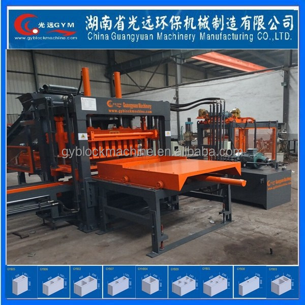 Cement Brick Raw Material and Paving hydraulic automatic concrete block making machine