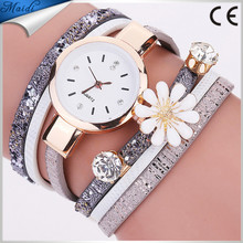 6 Colors Fashion Luxury Wrap Lady Bracelet Watches Women Casual Flower Wristwatches Relojes Mujer Montre Femme WW095