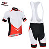 Custom wholesale men bib shorts set cycling jersey uniforms