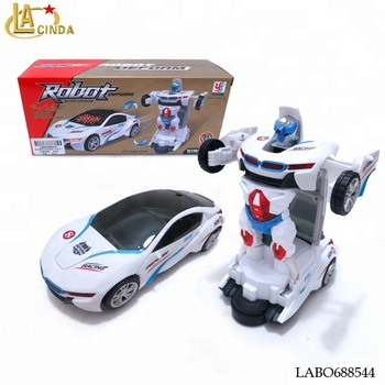 Battery operational car deform to robot kids toys