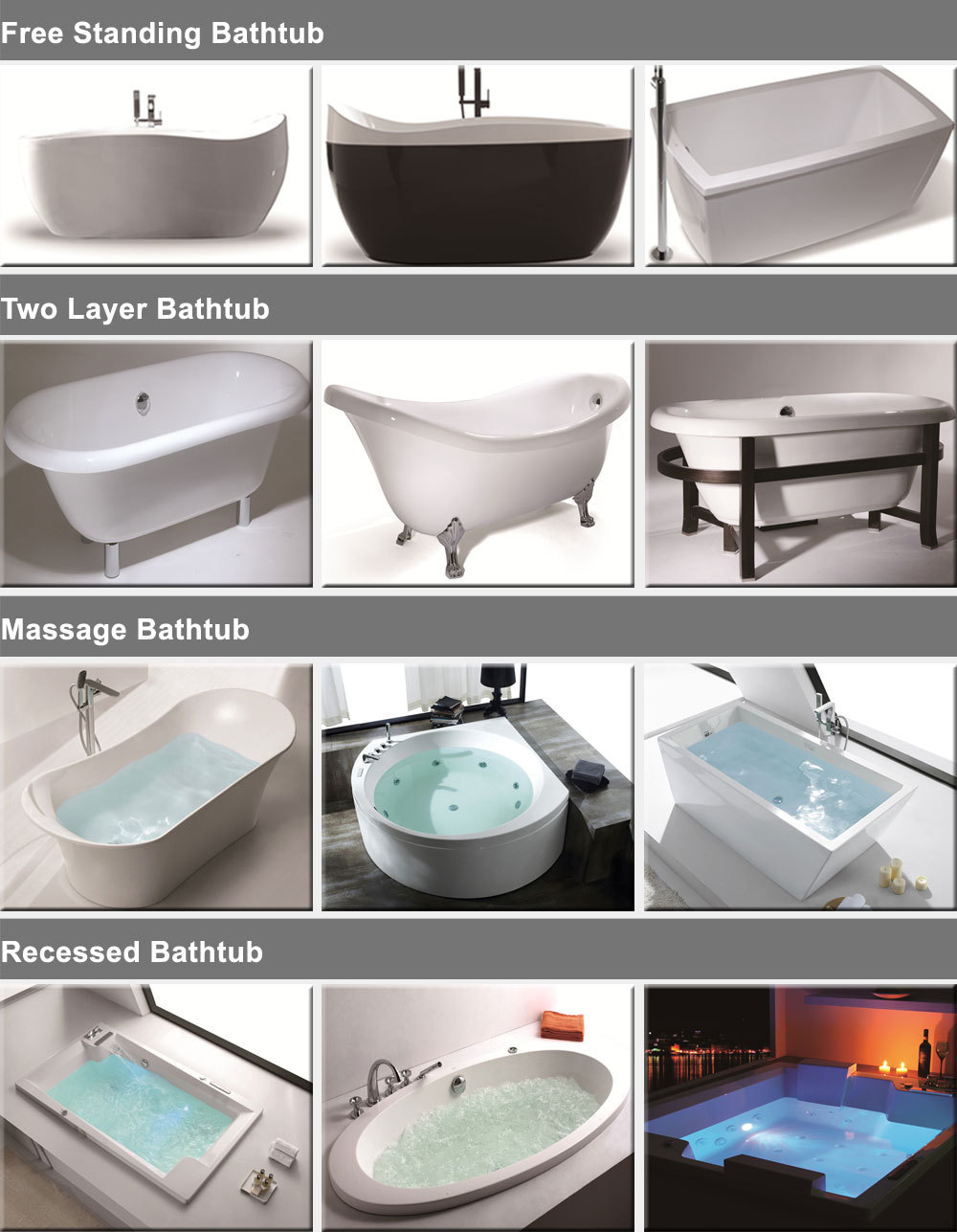 Europe Best Seller Whirlpool Bathtub /spa Whirlpool Bath Tub ...