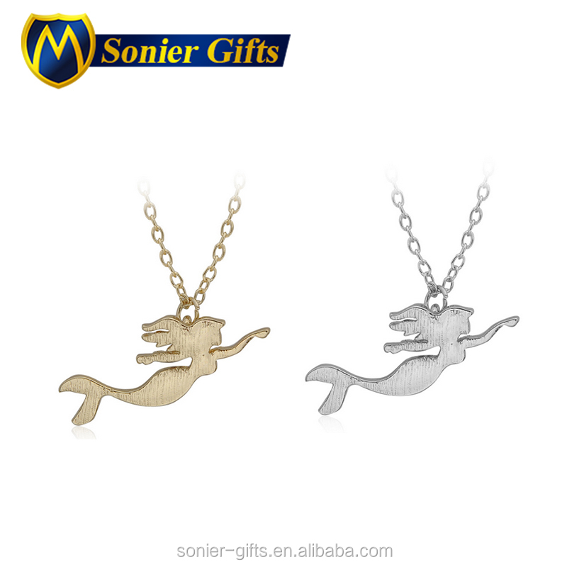 Custom the 14k gold om deer mermaid pendant jewelry