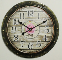 Metal Sun Shaped Wall Clock For Home Decor