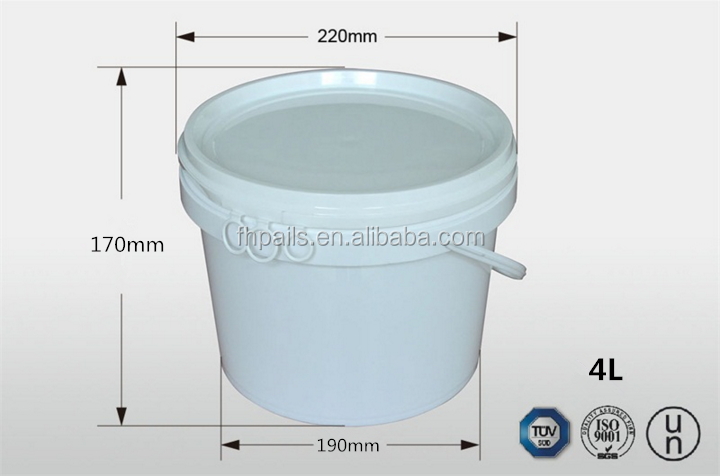 5L 10L 15L 20L factory made plastic bucket /container for wholesale for paint