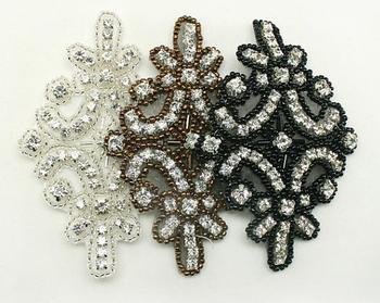 Perline di cristallo applique applique di strass per le scarpe