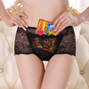 Wholesale Middle-Waist Lace Sexy Transparent Woman Underwear With Pocket for Ladies