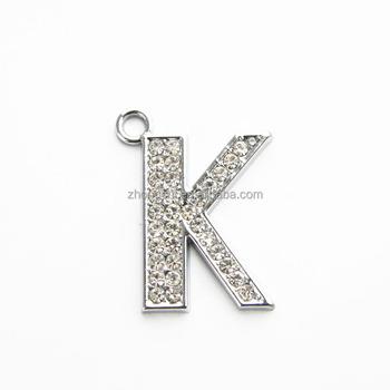 Wholesale Letter Alphabet Diamond Pendant Jewelry Different Words