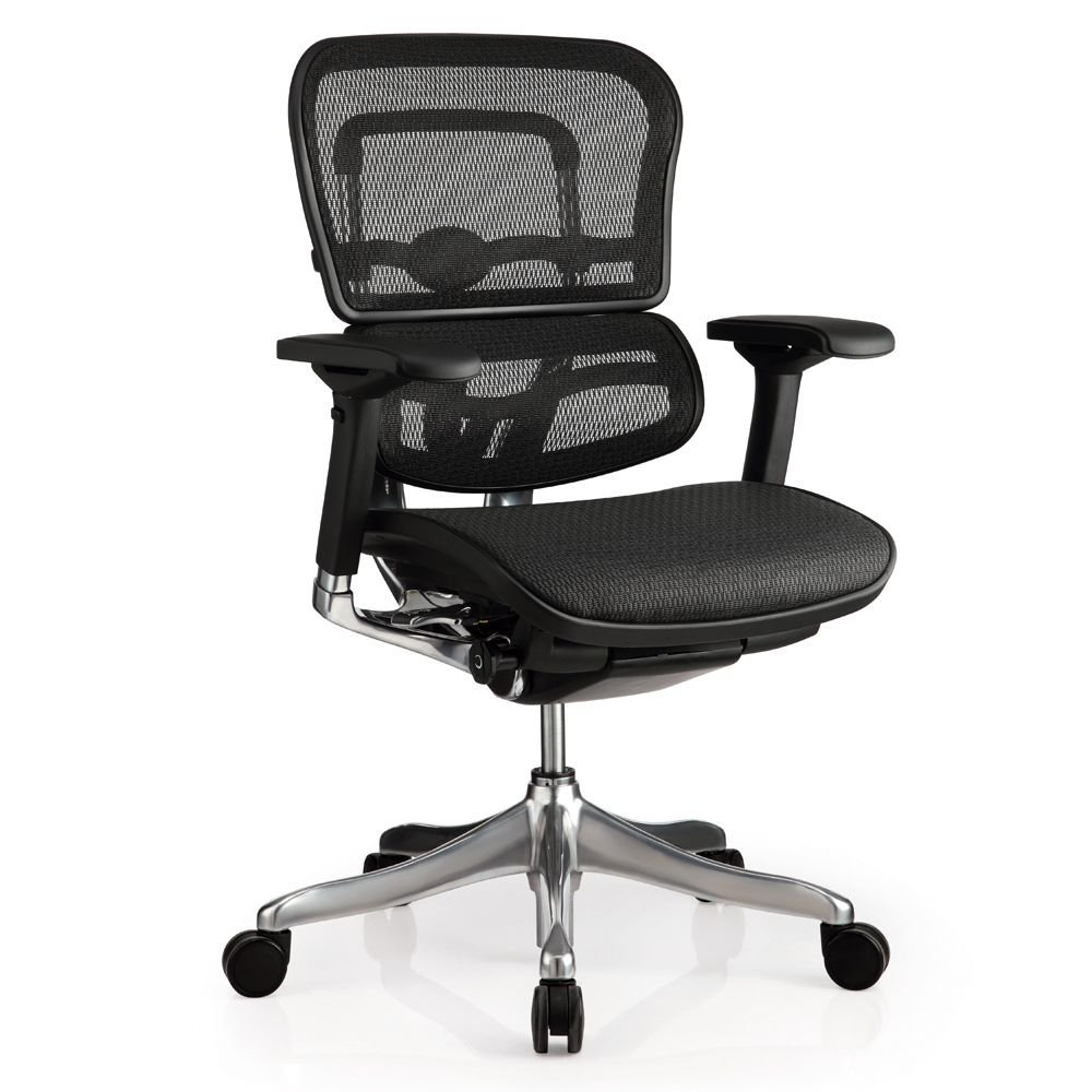 "Ergo Elite Mesh Mid Back Task Chair Dimensions: 26.4""W x 20""D x 39.5-44.5""H Seat Dimensions: 19.9""Wx19.3""D Weight: 72 lbs. Black Mesh/Chrome Base"