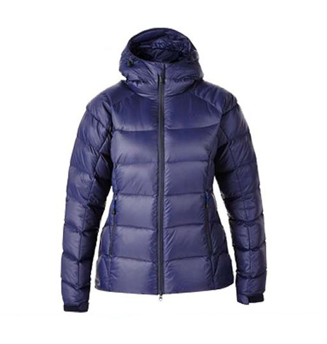 navy blue waterproof shell down jacket for woman cold weather