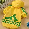 Best sale pet clothes for large dog, yellow dog sweatshirt with words printing, xxxl productions