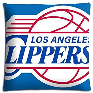 Zippered Comfort Los Angeles Clippers Car Pillow Shell Case Polyester Cotton Stain resistant 18x18 inch 45x45 cm