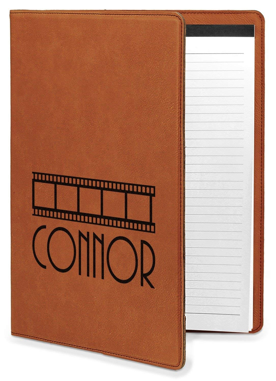 Movie Theater Leatherette Portfolio with Notepad - Large - Single Sided (Personalized)