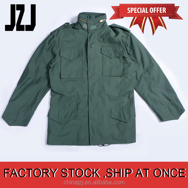 100% Cotton Army Green military winter coat M65 field jacket military