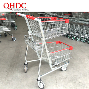 supermarket shopping used push carts cup holder trolley