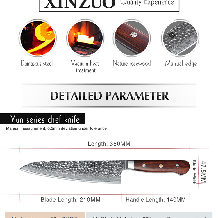 Newest 8 inch Japanese damascus steel kitchen chef knife