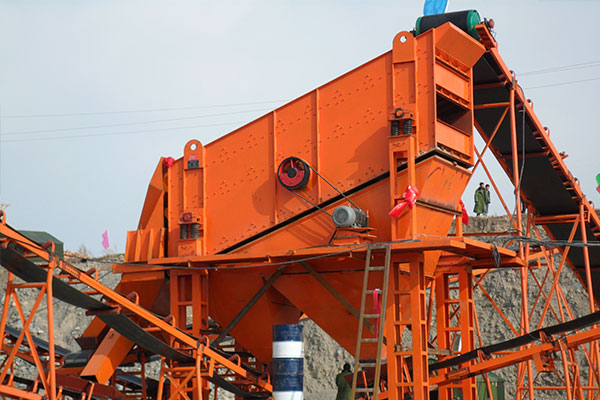 Round vibrating screen for YA series using for gold processing plant