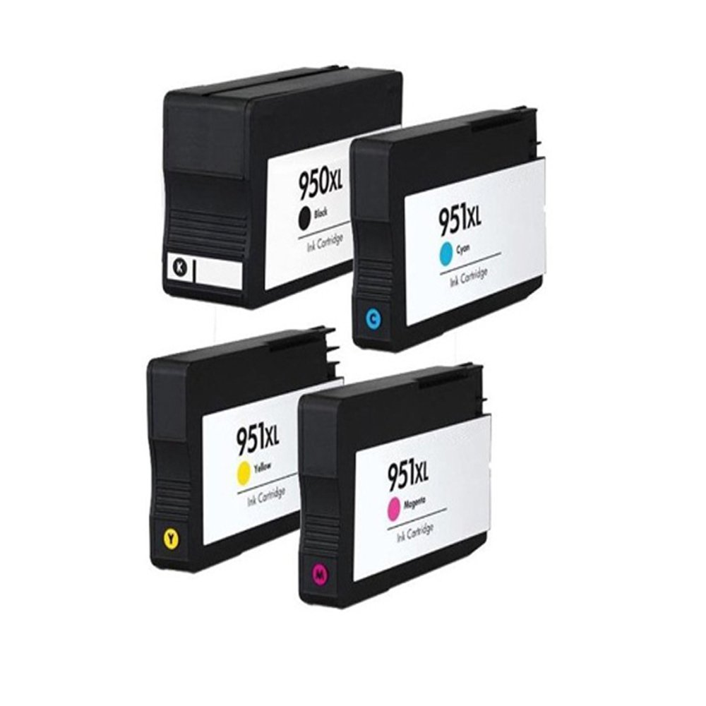 YATUNINK 4 Pack Remanufactured for HP 950 XL & 951 XL Ink Cartridges CN045AN CN046AN CN047AN CN048AN for 950XL 951XL Combo Pack Set for Officejet Pro 8660 8630 8620 8615 8625