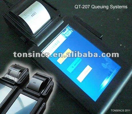 """7"""" Touch Handheld Tablet Wifi Mini Printer Kiosk For Qms"""