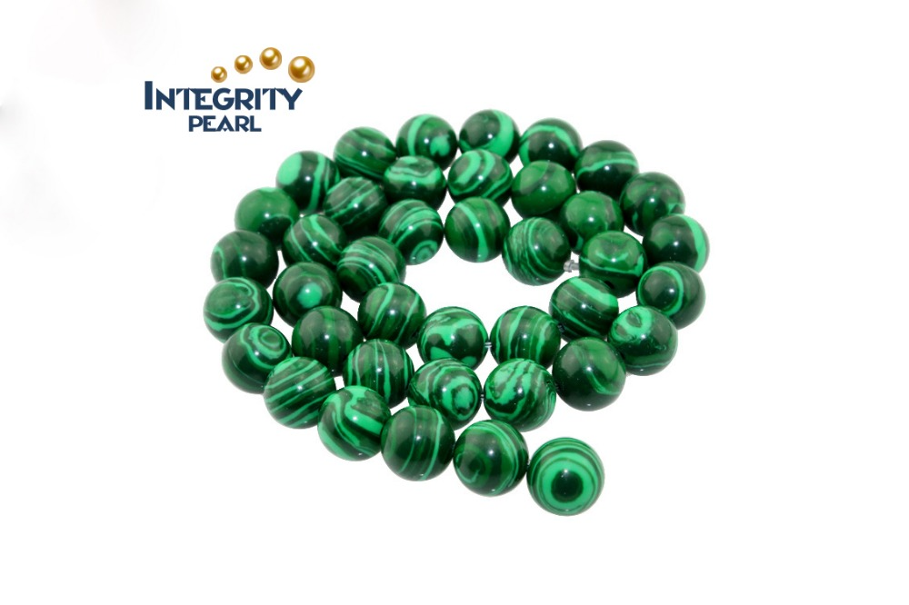 4mm 6mm 8mm 10mm 12mm Synthetic Green malachite loose beads Handmade jewelry materials accessories
