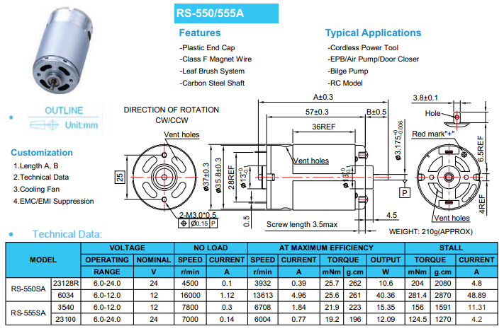 High Speed 14 4 V Dc Dc Motor Rs 550 For Sale