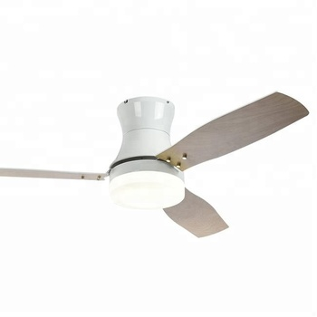 52'' dc motor wood blades ceiling fan with light