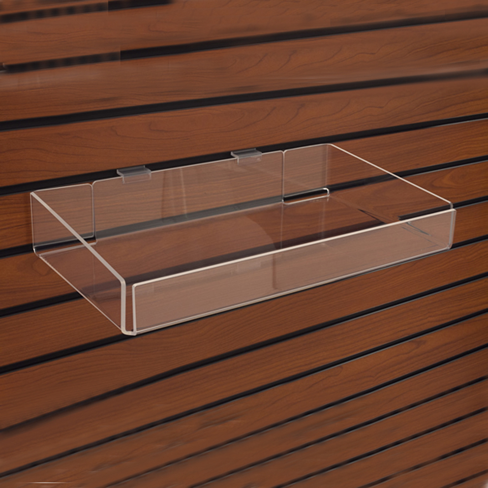 clear acrylic shelves for slatwall wholesale angled acrylic slatwall rh alibaba com acrylic slatwall shelves canada acrylic slatwall shelves trays and bins